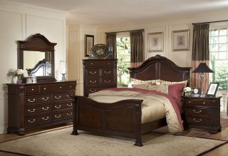 As graceful and elegant as its name, the Emilie Bedroom Set features flowing forms in the curves of the headboard, footboard, and crown of the mirror. Features: * Poplar and Basswood Solids and other Veneers * European Side Mounted Drawers Glides * Hand Carved Applied Decorations * Antique Brass Finished Hardware * English Tudor Finish Bedroom set group price of bed frame (Queen size) , dresser w/mirror, and one night stand at the sales price of $1,699.99! ✅ • • • #SupportSmallBusiness #ShopLocal #Vista #Escondido #SanMarcos #Carlsbad #Fallbrook #ValleyCenter #SanElijo #Oceanside #Poway #Encinitas #MiraMesa #SolanaBeach #DelMar #Temecula #ChulaVista #NationalCity #VistaCA #EscondidoCA #OrangeCounty #RiversideCounty #SanDiegoCounty #SanDiegoLife #SanDiego #SDViews #NorthCounty #SouthernCalifornia